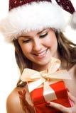 Weihnachtsportrait einer Frau Lizenzfreie Stockfotografie