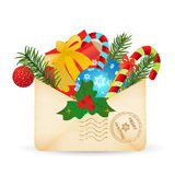 Weihnachtspost Zeichen zu Sankt Lizenzfreies Stockbild