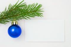 Weihnachtspostkarte 11 Lizenzfreies Stockbild