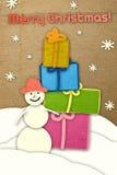 Weihnachtspostkarte Stockfoto