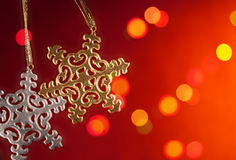 Weihnachtspostkarte Stockbild