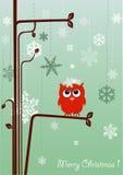 Weihnachtspostkarte Lizenzfreies Stockbild