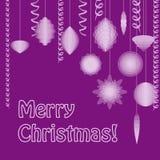 Weihnachtspostkarte Vektor Abbildung