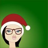 Weihnachtspostkarte Stock Abbildung