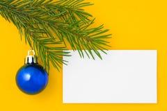 Weihnachtspostkarte 3 Stockbild
