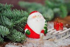 Weihnachtspostkarte mit Vater Frost Lizenzfreie Stockfotografie