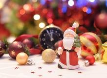 Weihnachtspostkarte mit Weihnachtsmann Stockbild