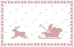 Weihnachtspostkarteauslegung. Stockfoto