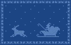 Weihnachtspostkarteauslegung. Stockbilder