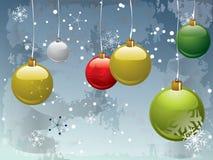 Weihnachtspostkarteauslegung Stockfotografie