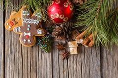 Weihnachtspostkarten-Dekorationskonzept Lizenzfreie Stockbilder