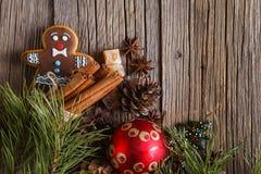 Weihnachtspostkarten-Dekorationskonzept Stockbilder