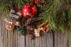 Weihnachtspostkarten-Dekorationskonzept Stockfotografie
