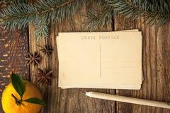 Weihnachtspostkarten eingestellt Lizenzfreie Stockfotos