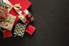 Weihnachtspräsentkartonhintergrund Lizenzfreies Stockfoto