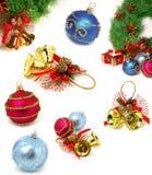 Weihnachtsprobeflasche Stockfotografie