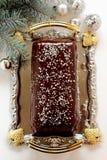 Weihnachtsprotokoll Stockfoto