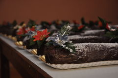 Weihnachtsprotokolle Stockfoto