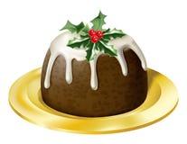 Weihnachtspudding stock abbildung
