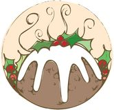 Weihnachtspudding-Flecken Stockfoto