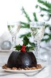 Weihnachtspudding-Tabelle Stockbild