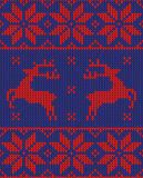 Weihnachtspullover-Musterdesign Stockfotografie