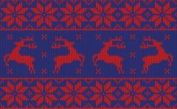 Weihnachtspullover-Musterdesign Stockfoto