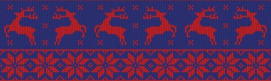 Weihnachtspullover-Musterdesign Lizenzfreie Stockfotografie