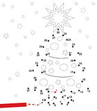 Weihnachtspunktspiel Stockbilder