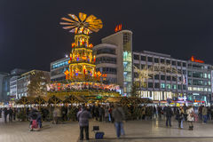 Weihnachtspyramide in Hannover Stock Image