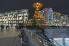Weihnachtspyramide in Hannover Stock Photography