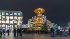 Weihnachtspyramide i Hannover Royaltyfria Foton