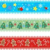 Weihnachtsränder Stockbilder