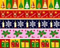 Weihnachtsränder eingestellt [1] lizenzfreie abbildung