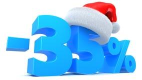 Weihnachtsrabatt Stockfotografie