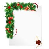 Weihnachtsrahmen lizenzfreie abbildung