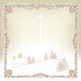 Weihnachtsrahmen Stockbild