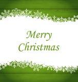 Weihnachtsrahmen gemacht von den Schneeflocken Stockfoto