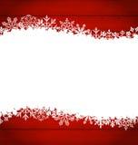 Weihnachtsrahmen gemacht von den Schneeflocken mit Kopienraum für Ihren Text Lizenzfreie Stockfotografie