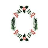 Weihnachtsrahmen, Kranz des neuen Jahres Lizenzfreie Stockfotografie