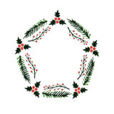 Weihnachtsrahmen, Kranz des neuen Jahres Stockbilder