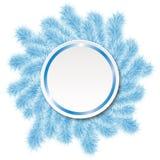 Weihnachtsrahmen von blauem Baum 2 Lizenzfreie Stockfotos