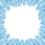 Weihnachtsrahmen von blauem Baum 4 Lizenzfreies Stockfoto