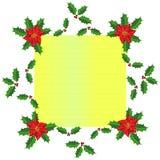 Weihnachtsrahmendesign lizenzfreie stockfotos