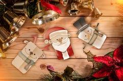 Weihnachtsrahmenhintergrund mit festlicher Dekoration jpg Stockbild