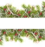Weihnachtsrand Stockbild