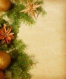 Weihnachtsrand. Stockbilder