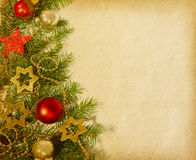 Weihnachtsrand. Stockfoto
