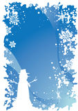 Weihnachtsrand 6 Stockbild