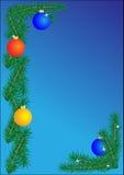 Weihnachtsrand auf blauem Hintergrund stock abbildung